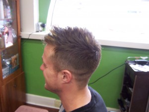 Men's Haircut, fade, with highlights